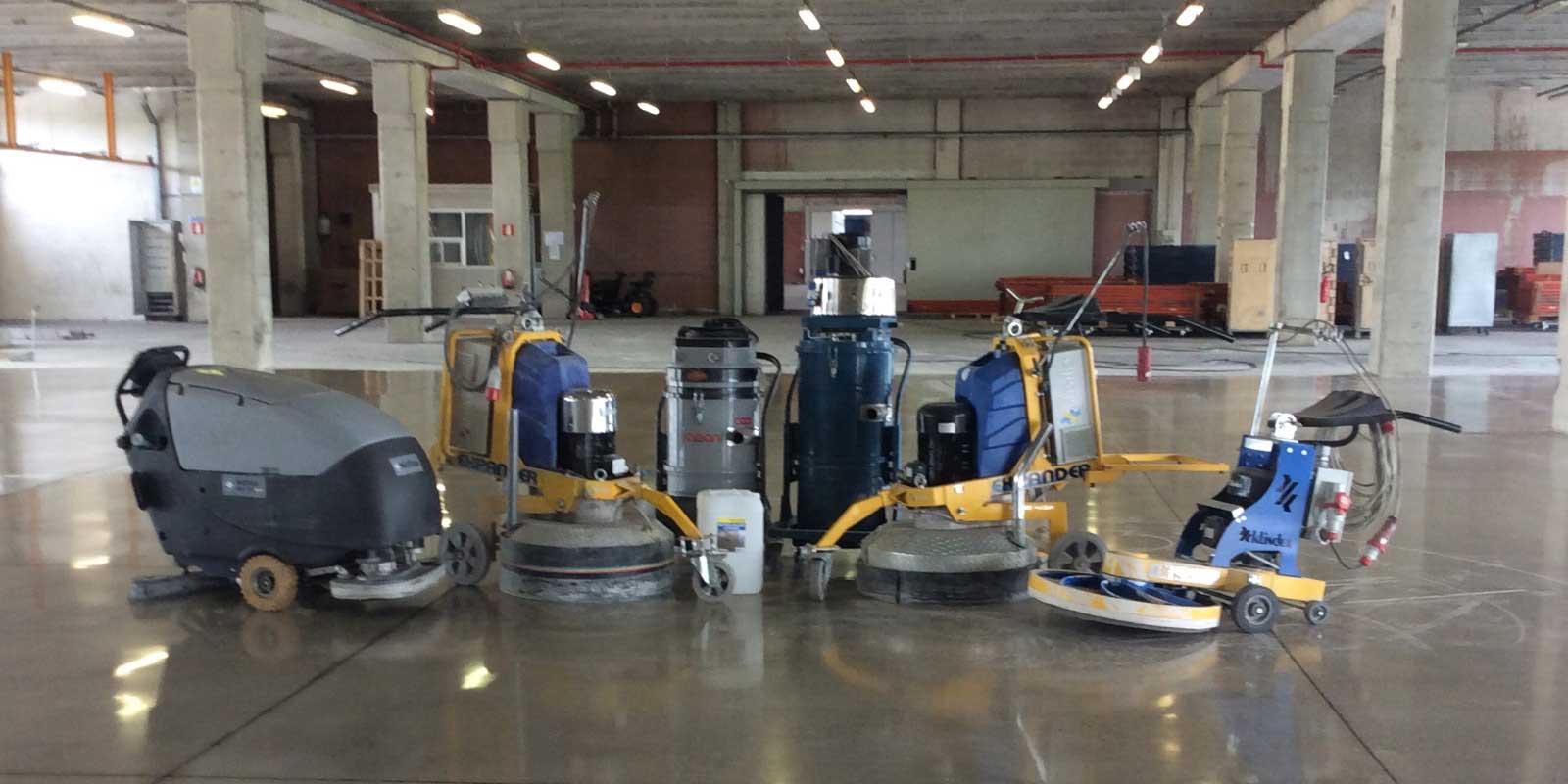 Levigatura e Lucidatura, Pavimentazioni industriali in cemento